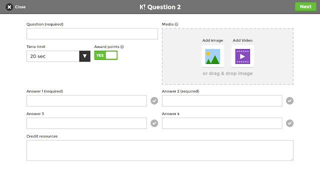 Como incluir perguntas no Kahoot