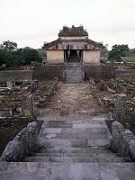 Pavimentos de la tumba Imperial Thieu Tri en Hue