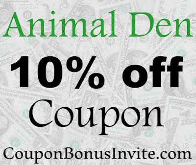Animal Den Discount Code 2016-2017, Animal Den Promo Code November, December, January