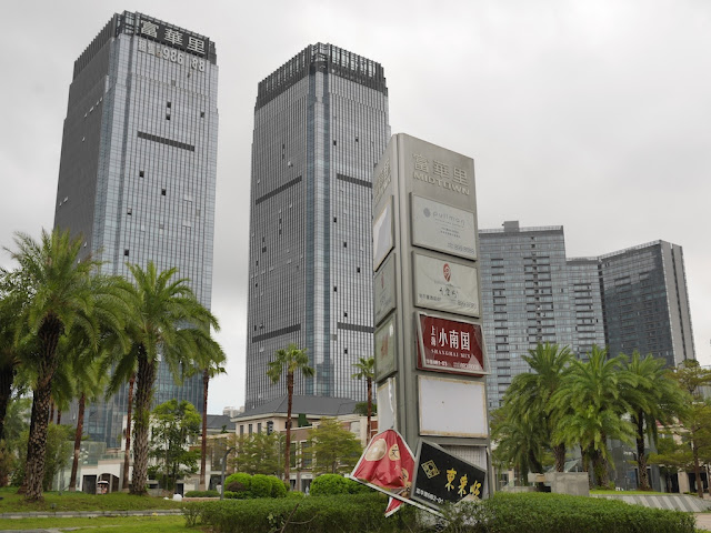 Midtown in Zhuhai after Typhoon Hato