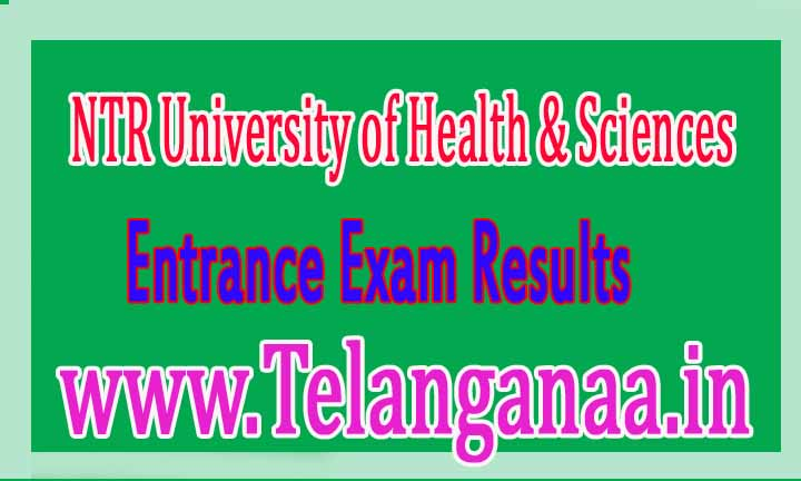NTRUHS BUMS Entrance Exam Results Download
