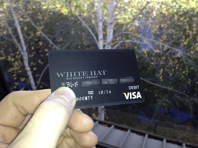 Facebook distributing White Hat Debit Card to Bug Bounty Winners