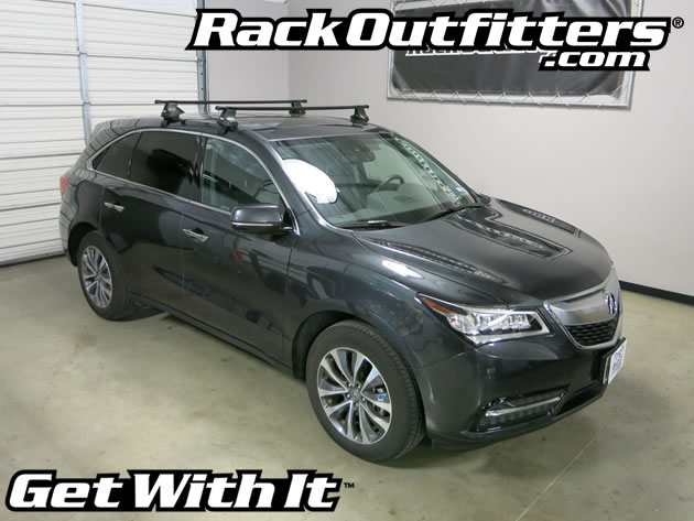 NEW Acura MDX Thule Traverse SQUARE BAR Roof Rack '14