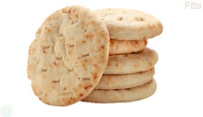 Pitta bread, Pitta food