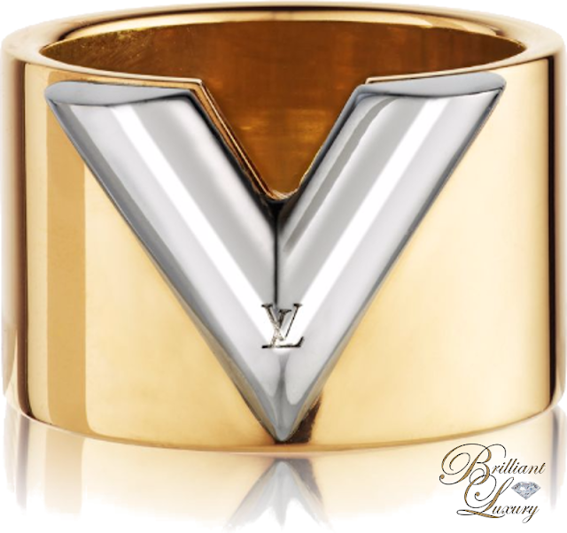 Brilliant Luxury ♦ Louis Vuitton Gold Essential V Ring