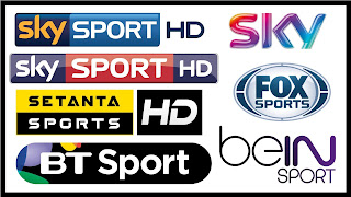 WORLD SPORT CHANNELS  SKY / FOX / BT / LIGTV / ARENA 02.12.2016
