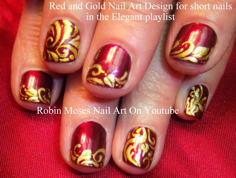 Nail Art By Robin Moses Short Nail Art Nail Art Fish Nail Art
