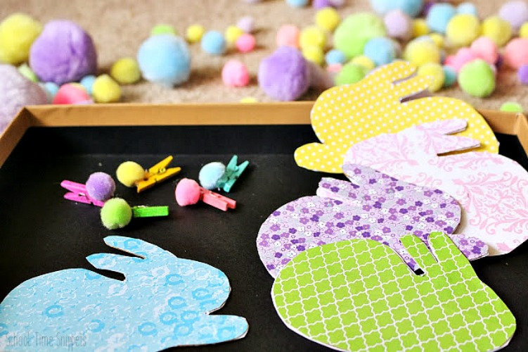 color matching spring activity for toddlers