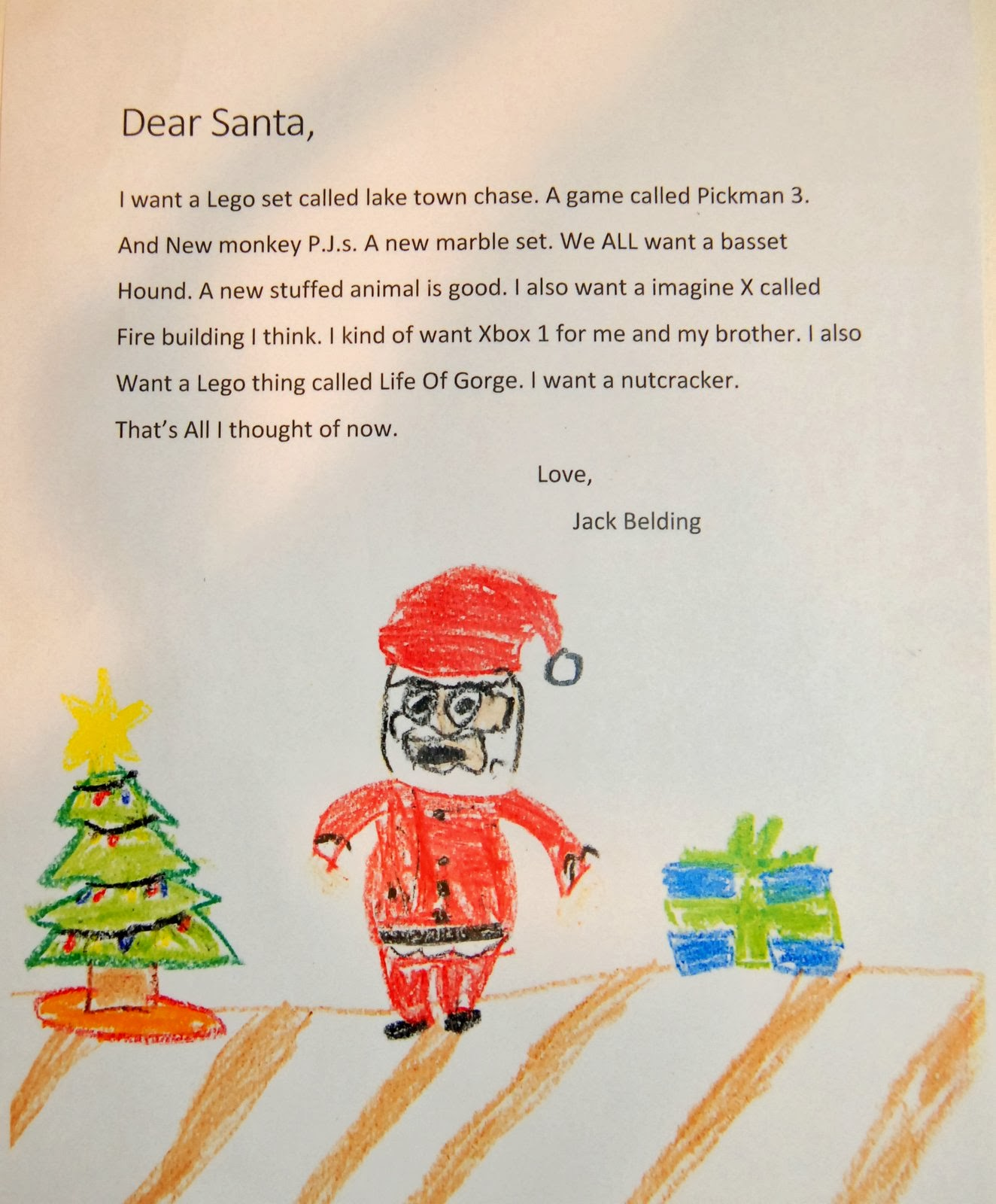 A Blonde And  Boys A Letter To Santa