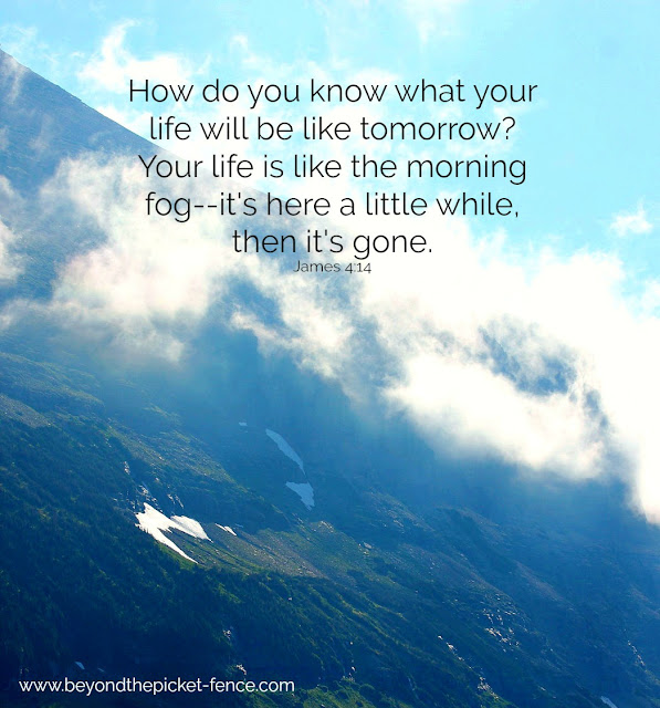 Inspiring Devotional about Life Being Short