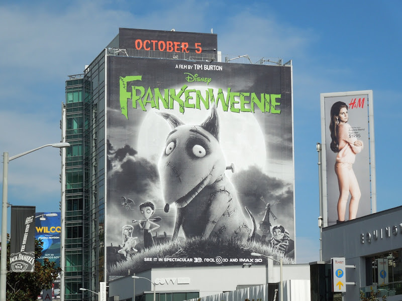 Giant Frankenweenie movie billboard Sunset