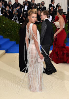Stella Maxwell flaunts cleavage at Met Gala 2017 red carpet dresses