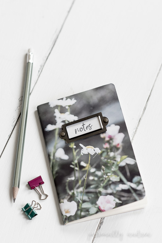DIY Photo Covered Notebooks | Use your own photos to decorate and personalize your notebooks | personallyandrea.com
