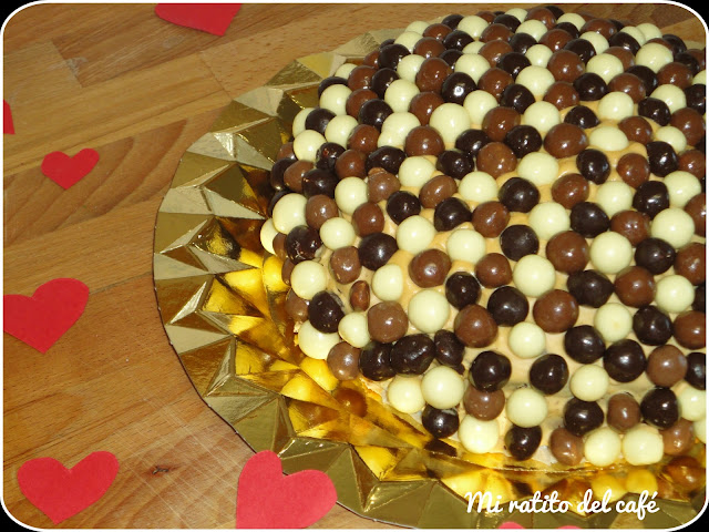 Tarta de maltesers 3 chocolates