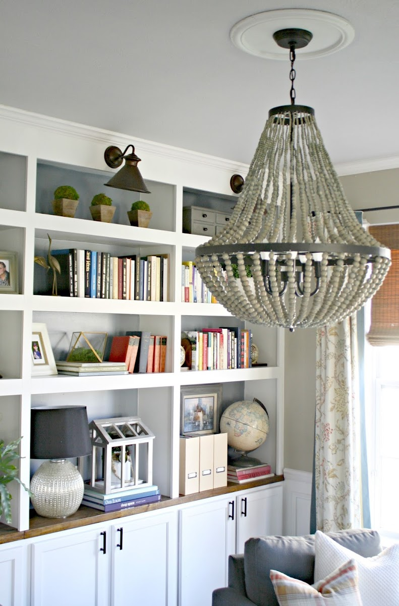 large beaded chandelier