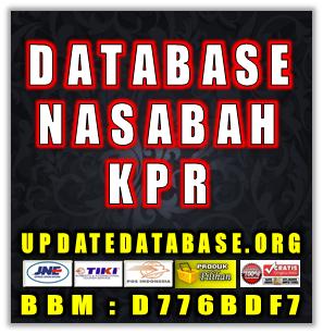 Jual Database Nasabah Priroitas KPR