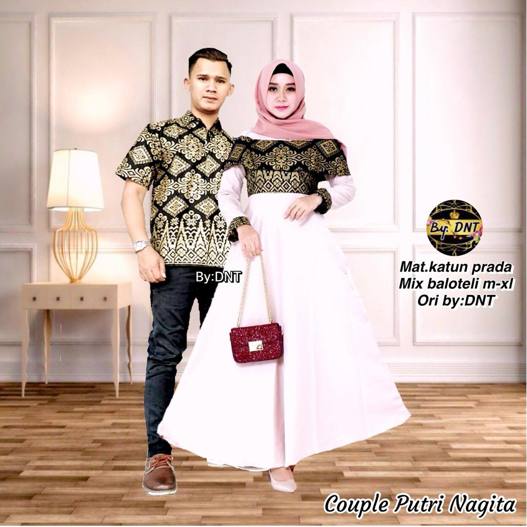 Batik Couple Gamis Putri Nagita