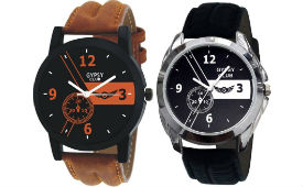 GYPSY CLUB Unisex Watches Pack of 2 For Rs 373 (Mrp 1499) at Flipkart deal by rainingdeal.in