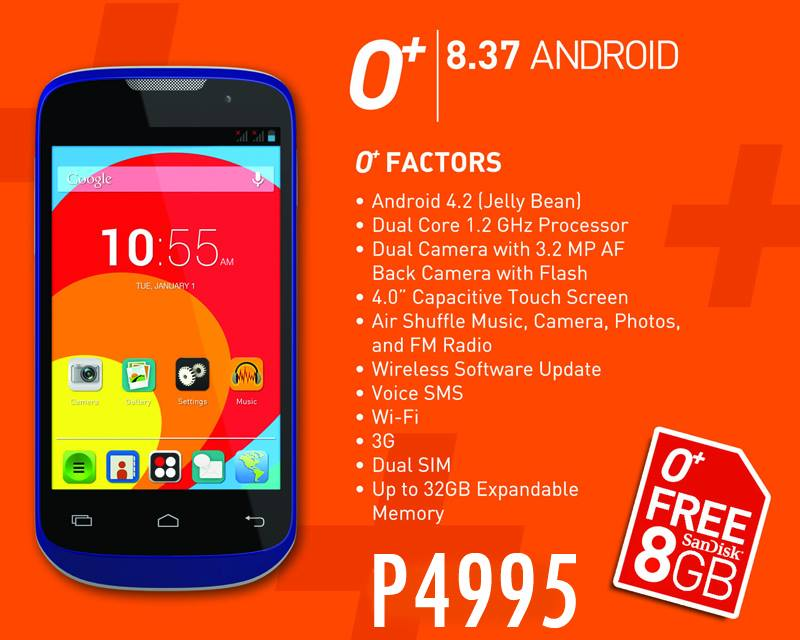 O+ 8.37 Android Specs Price in the Philippines