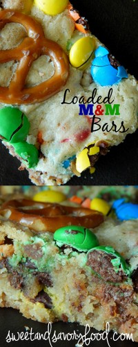 loaded M&M bars (sweetandsavoryfood.com)