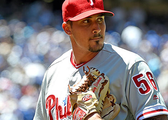 Zach Eflin on the hill for the Phillies