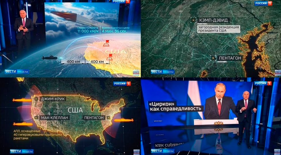Russia annuncia obiettivi USA in caso di Attacco Nucleare.