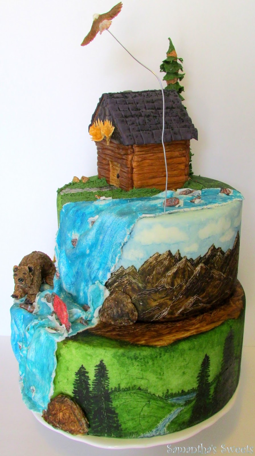 Samanthas Sweets And Sams Sweet Art Outdoor Adventures Birthday Cake