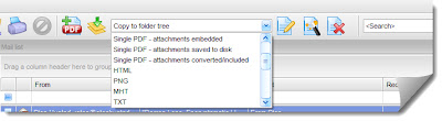 Choose your export profile to convert .eml files.