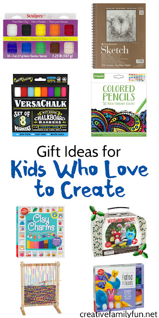 Fun gift ideas for kids, ages 7 - 11, who love to create.