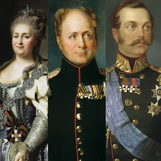 Left to Right: Catherine the Great, Alexander I, and Alexander II