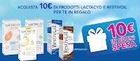 Logo Lactacyd e Restivoil ti regalano buoni spesa da 10€