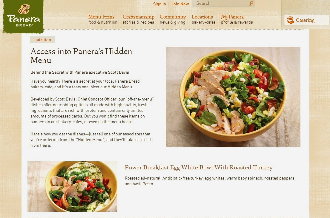 Panera secret menu