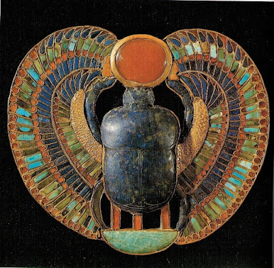Winged Scarab on the breastplate of Tutankhamun, Egyptian Museum, Cairo