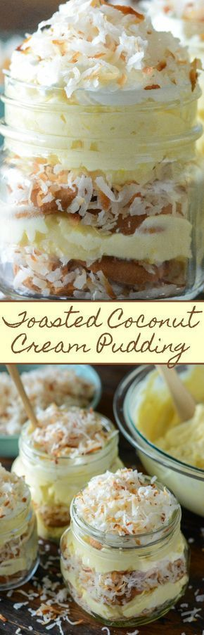 Toasted Coconut Cream Pudding