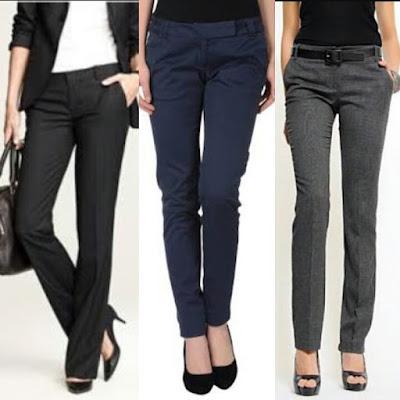 pantalon de vestir azul marino para mujer 70800883b7d0
