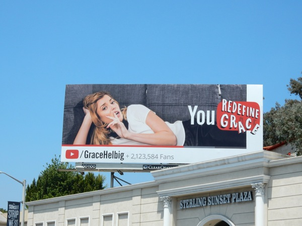 You Redefine Grace YouTube billboard