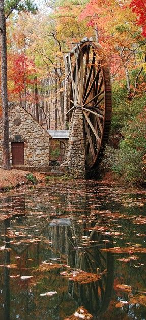 Berry College water wheel in Mount Berry, Georgia