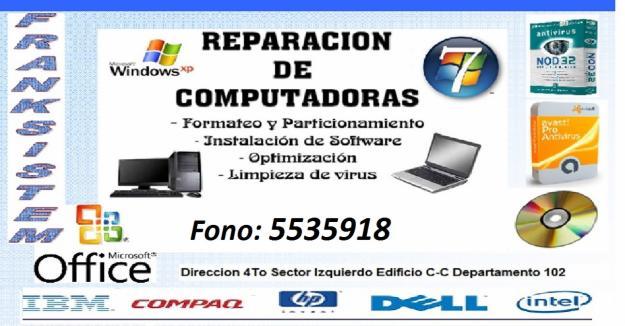 Honesto Reparacion Y Mantenimiento De Computadoras Servicio Proviscreditos