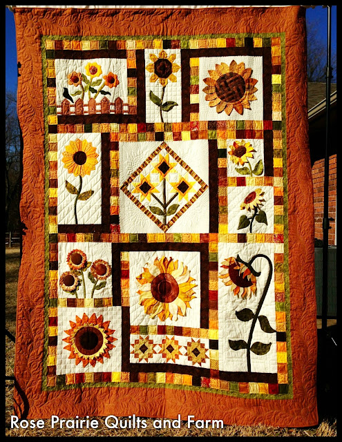 craftsy on sunflower pattern quilting block free article finished quilts august scrappy quilt