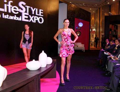 Model on ramp during Life Style Expo Istanbul
