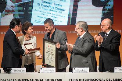 Entrega Premio FIL Literatura 2017 a Emmanuel Carrere