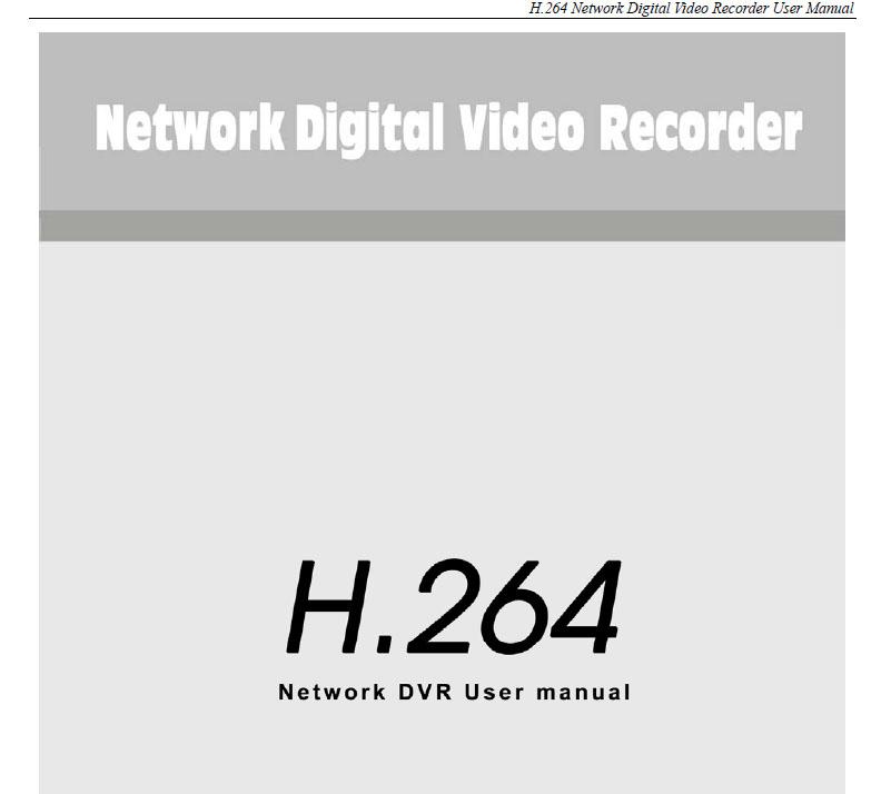 ZMODO H.264 Manual