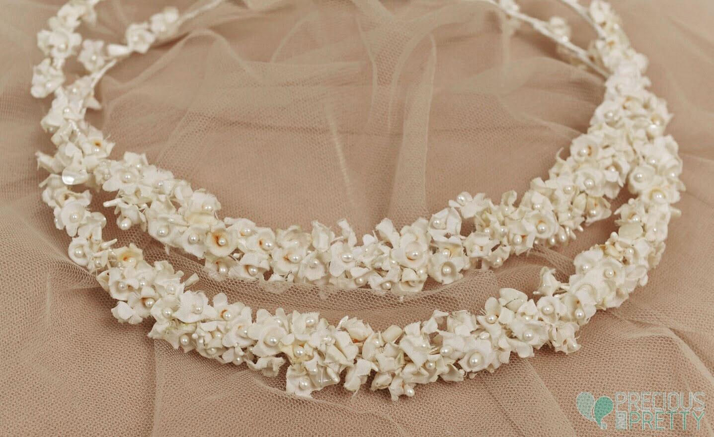 Romantic wedding crowns white flowers 1072