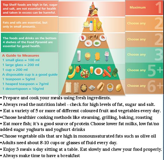 Food guide pyramid.