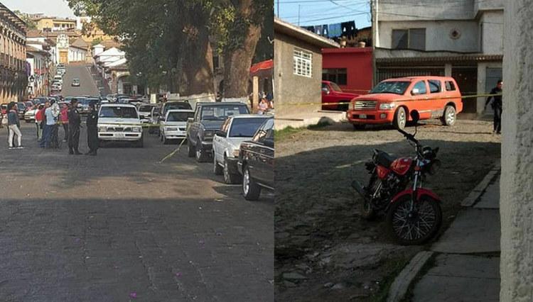 Se enfrentan a balazos en pleno centro de Pátzcuaro Michoacán