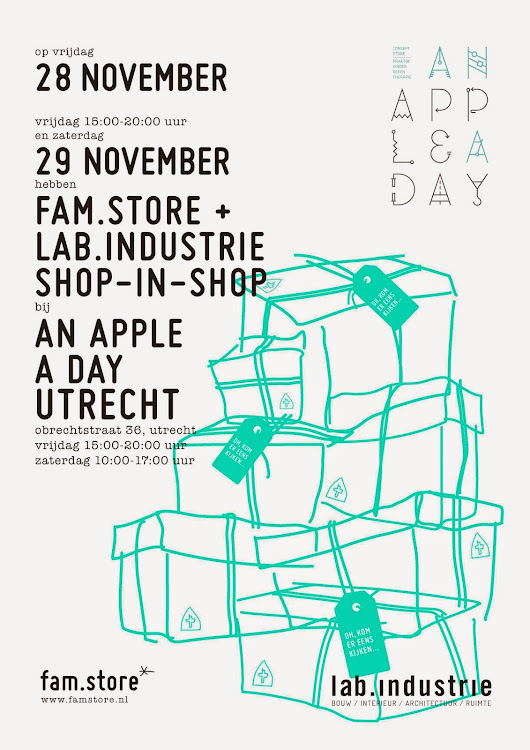 "pop up, shop in shop...at ""An apple a day"""
