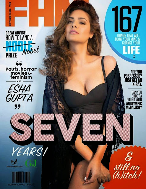 Esha Gupta's FHM Bikini 2014 Photoshoot