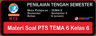 Materi Soal UTS PTS Tema 6 Kelas 6 Kurikulum 2013