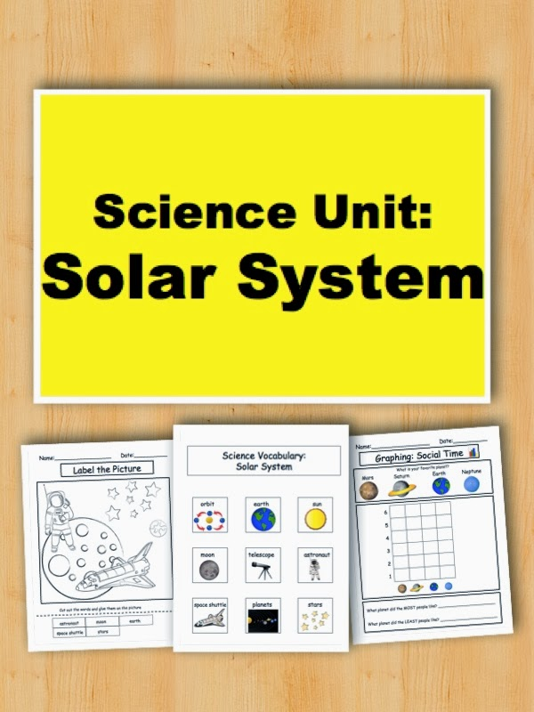 First Grade Solar System Unit - Pics about space