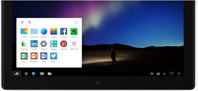 Taskbar dan Start Menu Remix OS
